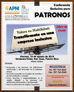 PROMOCION CONFERENCIA PATRONOS
