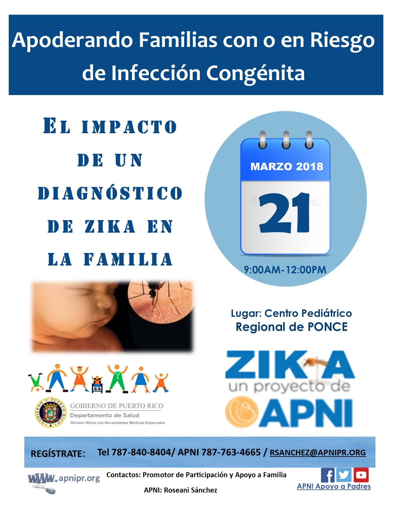 El impacto de un diagnóstico de ZIKA en la familia